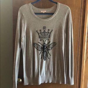 Queen Bee Grey Sweater